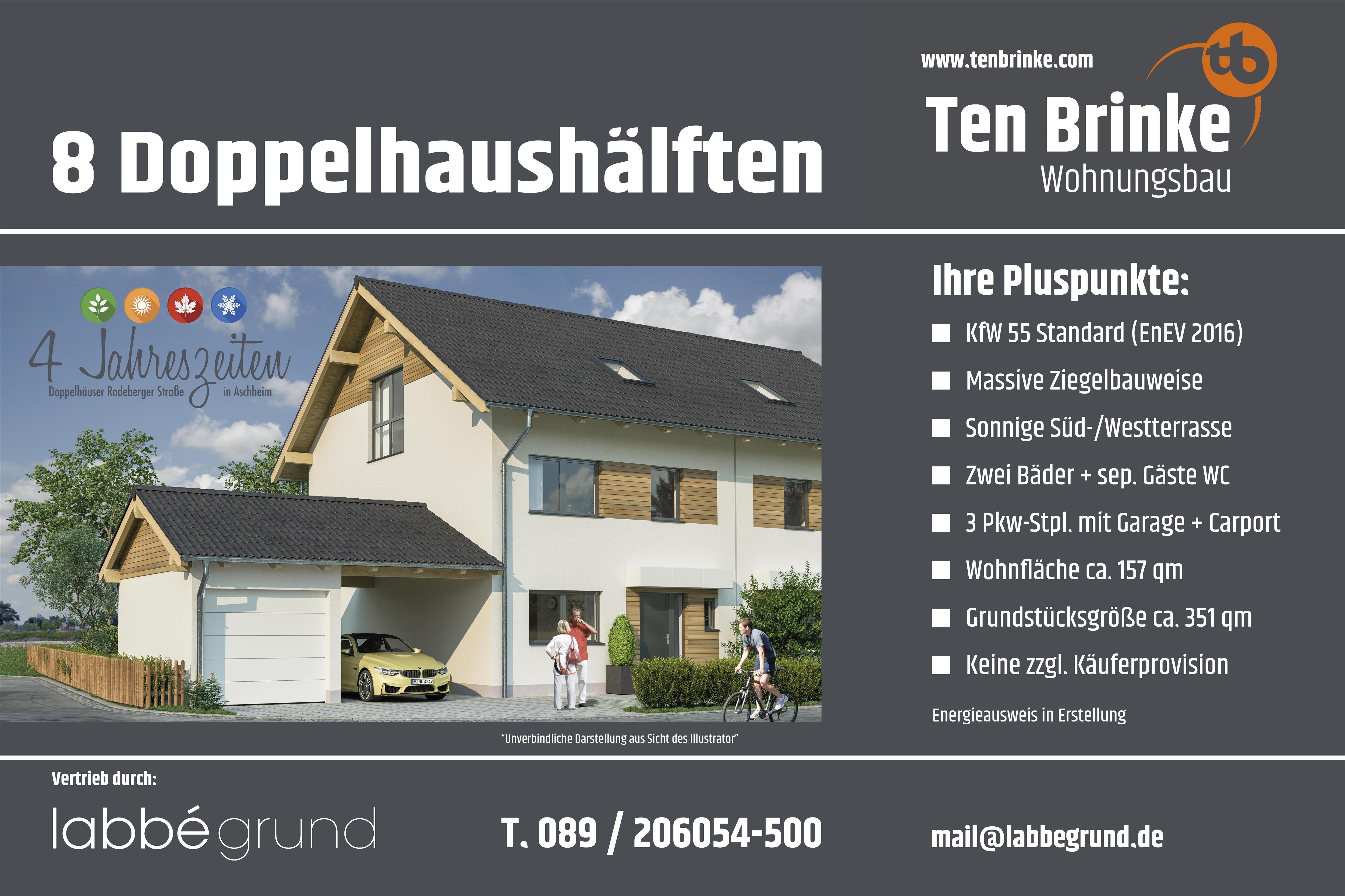 Doppelhaushälften Radeberger Straße Aschheim Ten Brinke Gruppe