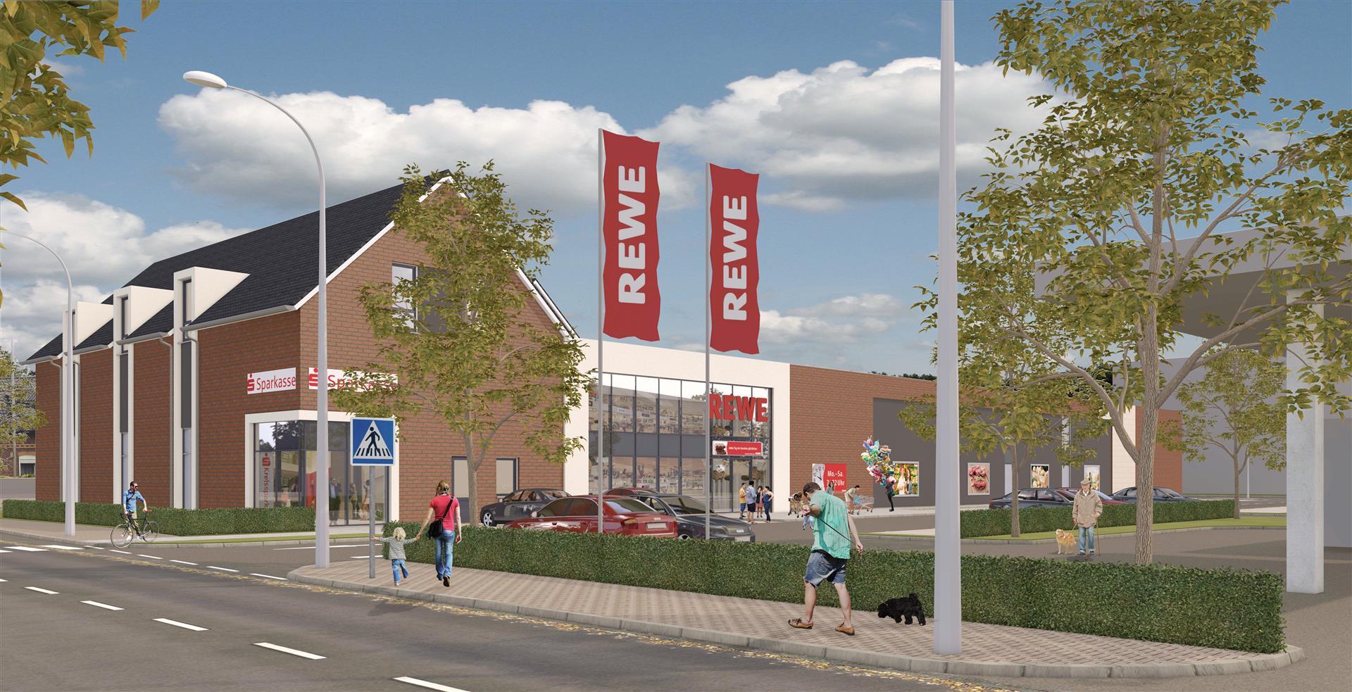 Kerpen Brueggen Heerstrasse Rewe Sparkassefiliale Wohnungen Ten