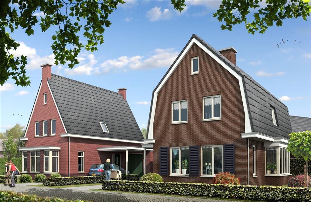 Vrijstaande woning aan de heuvelstraat in stokkum ten for Nieuwbouw vrijstaande woning