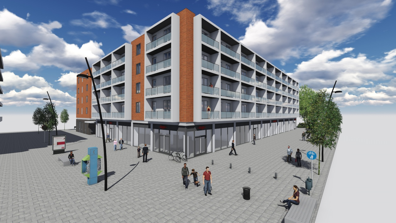 Nieuwbouw lidl en 108 appartementen august alleb plein in amsterdam ten brinke - Een appartement ontwikkelen ...